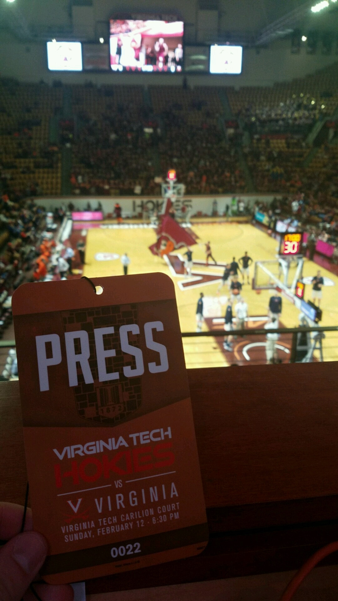 Cassell Coliseum at Virginia Tech